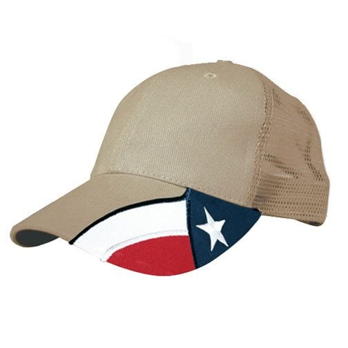 texas flag brimmed hat
