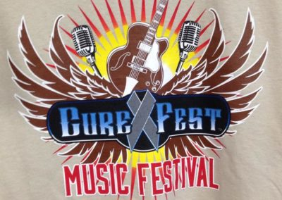 CureFest screen printed t-shirt