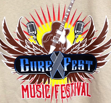 Cure Fest Music Festival Screen Print T-Shirt